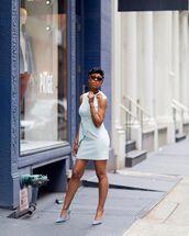 dress,white dress,mini dress,pumps