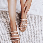 shoes,slide,pearl,tan,leather,billini