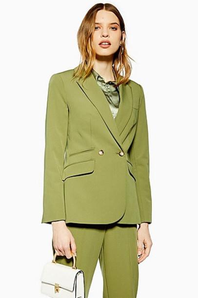 Topshop Smart Jacket - Khaki