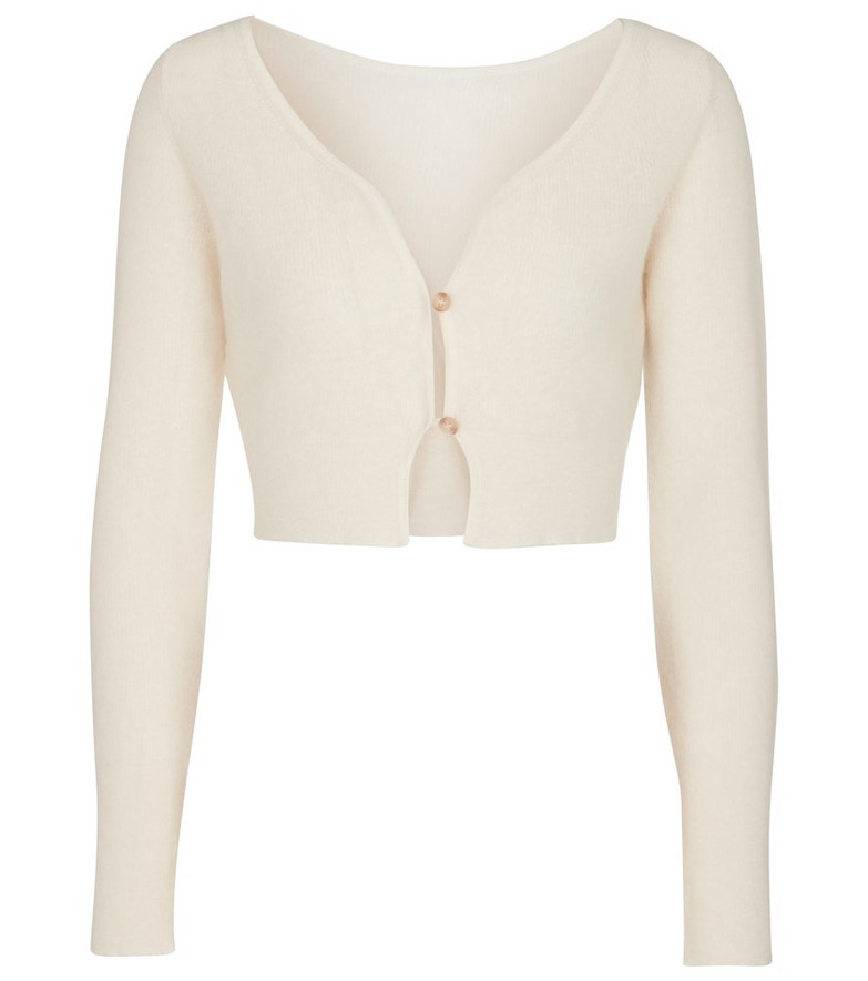 Jacquemus Le Cardigan Alzou mohair and wool-blend cardigan in white