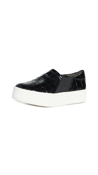 Vince Warren Slip On Sneakers in black
