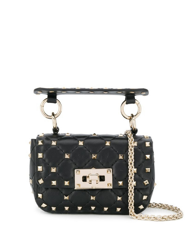 Valentino Garavani mini Rockstud spike bag in black