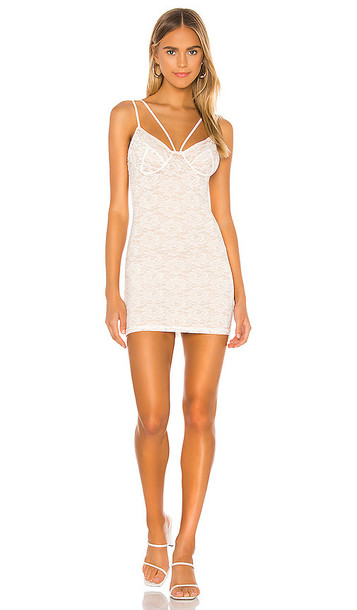 superdown Corral Lace Mini Dress in White