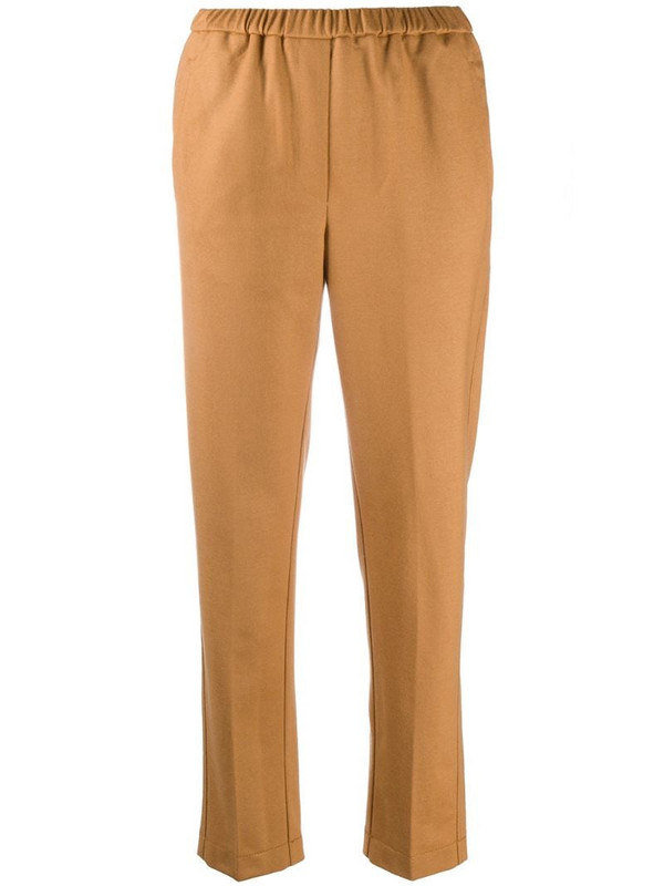 Forte Forte elastic-waist pull-on trousers in brown