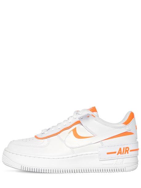 NIKE Af1 Shadow Sneakers in orange / white