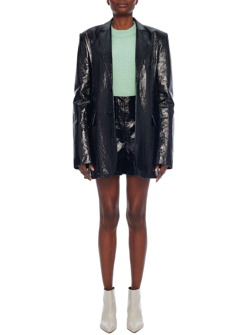Tibi Leather Blazer
