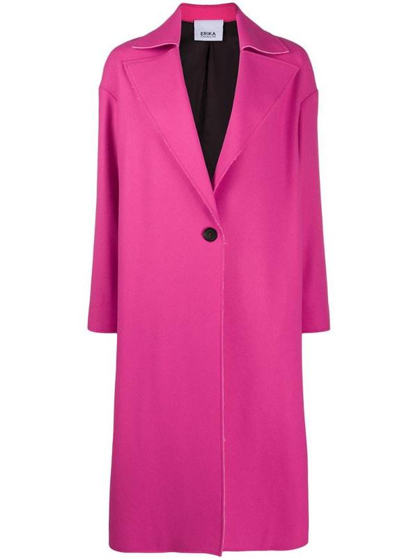 Erika Cavallini single breasted pink coat