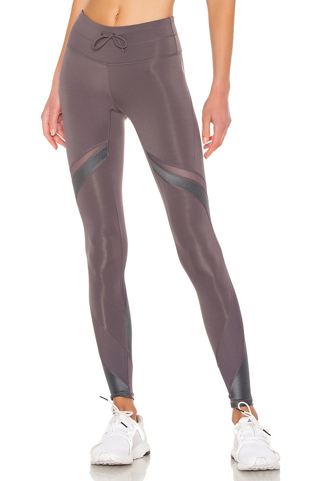 Free People Movement Mid Rise Tap Back Legging in gray