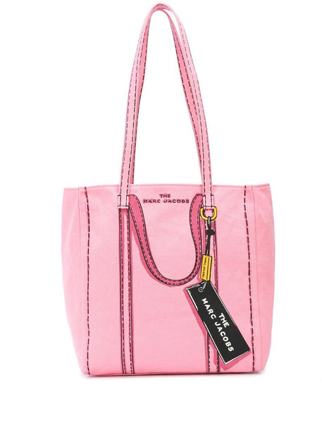 Marc Jacobs The Trompe L'oeil Tag tote bag in pink