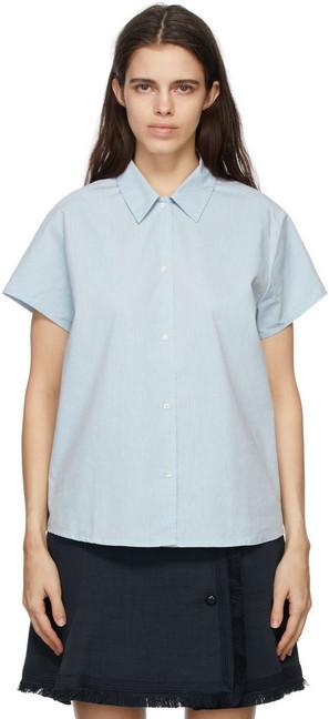 A.P.C. A.P.C. Blue Marina Short Sleeve Shirt