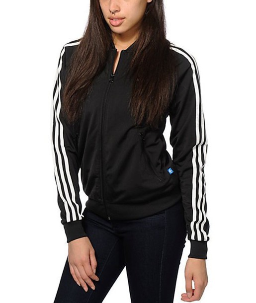 sweater black and white strips adidas sweater.