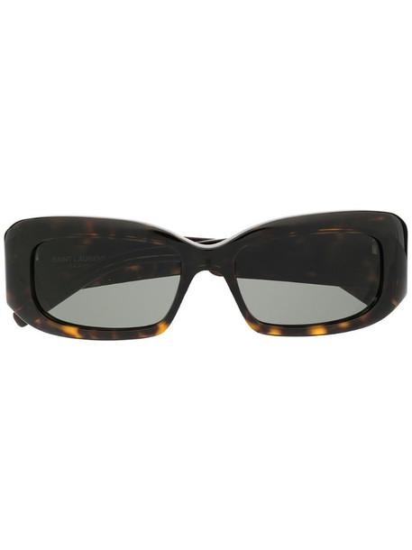 Saint Laurent Eyewear tortoiseshell square-frame sunglasses in brown