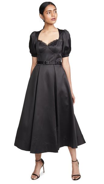Self Portrait Black Midi Dress