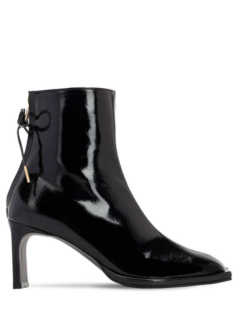 REIKE NEN 80mm Patent Leather Ankle Boots in black