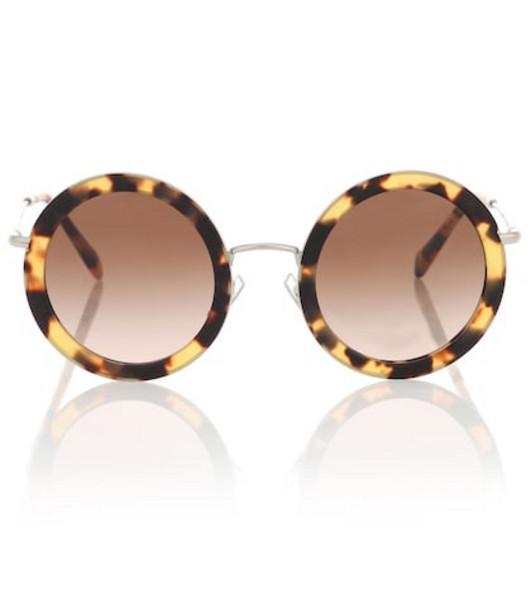 Miu Miu Round sunglasses in brown