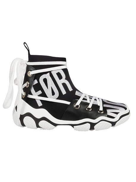 Red Valentino Glam-run Hi-top Sneakers in black / white