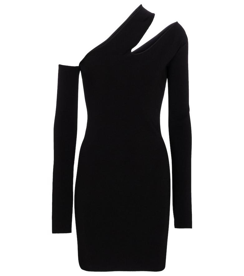 Nanushka Shani cutout ribbed-knit minidress in black