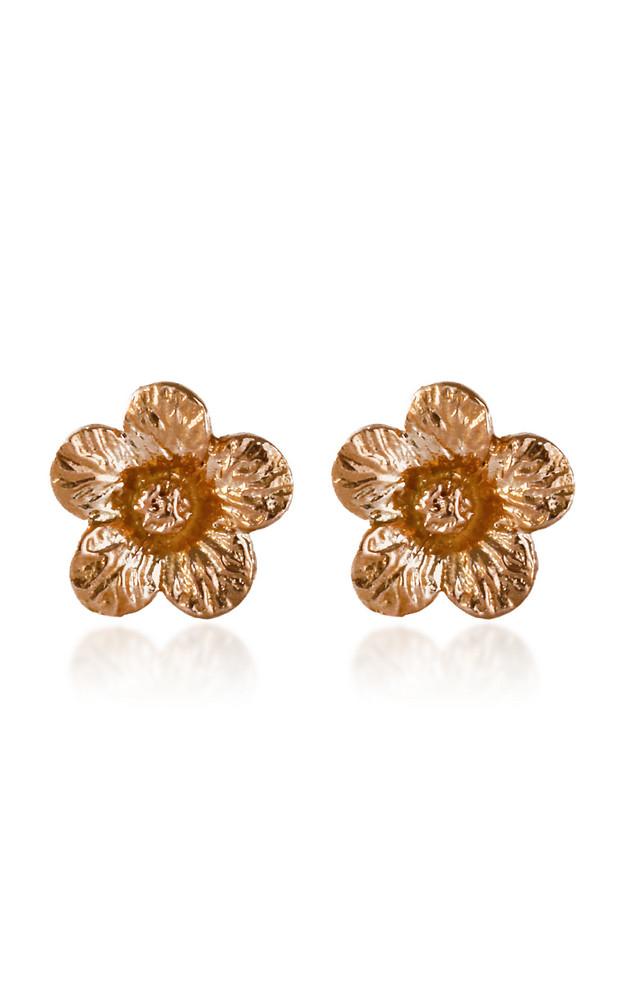 Bernard James Petunia 14K Rose and Yellow Gold Earrings in multi
