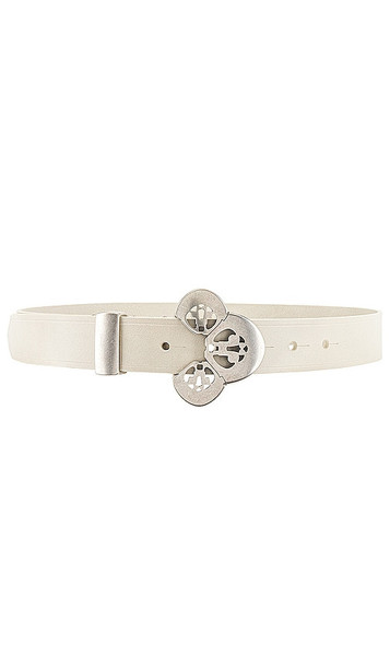 Isabel Marant Louama Belt in White in silver