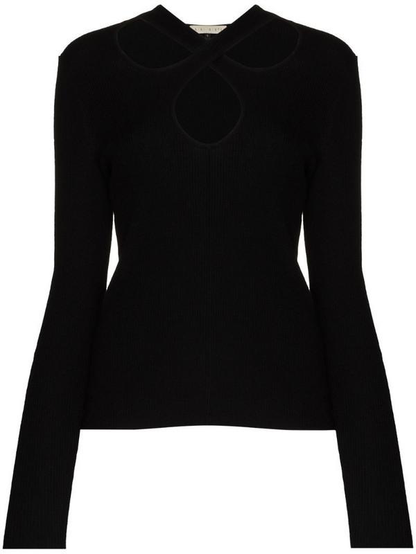 USISI SISTER Kirstie halter-neck jumper in black