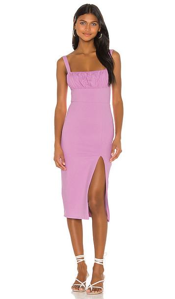 Privacy Please Molly Midi Dress in Mauve in lilac