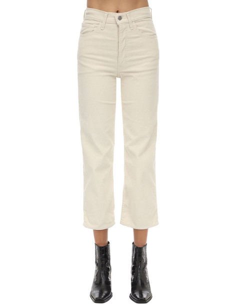 LEVI'S RED TAB Rib Cage High Rise Stretch Corduroy Pant in ivory