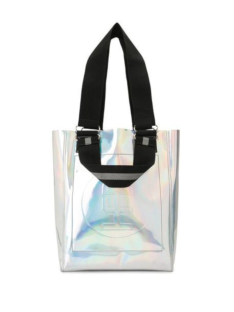 Honey Fucking Dijon iridescent tote bag in silver