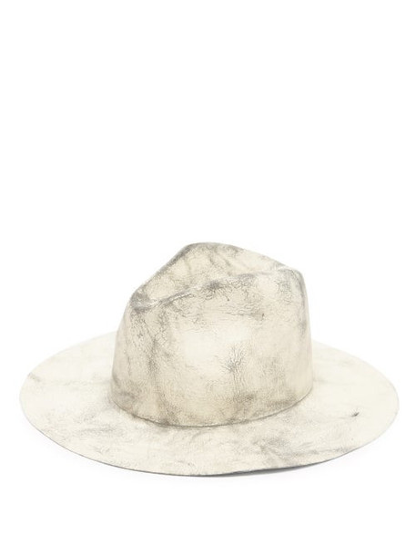 Reinhard Plank Hats - Norma Felt Fedora Hat - Womens - Grey Multi