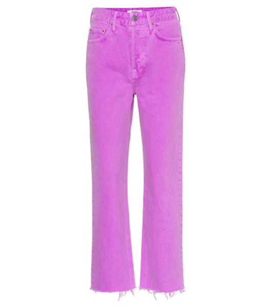Grlfrnd The Mica high-rise cropped jeans in purple