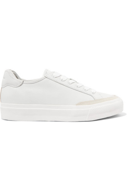 rag & bone - Army Suede-trimmed Leather Sneakers - White