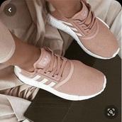 shoes,addias shoes,pink,rose