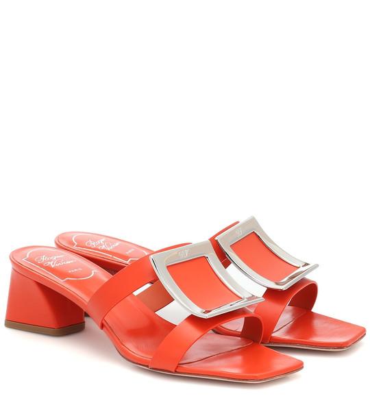 Roger Vivier Bikiviv' leather sandals in orange