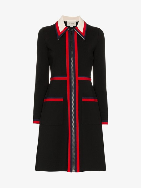Gucci Zipped Jersey Dress in black