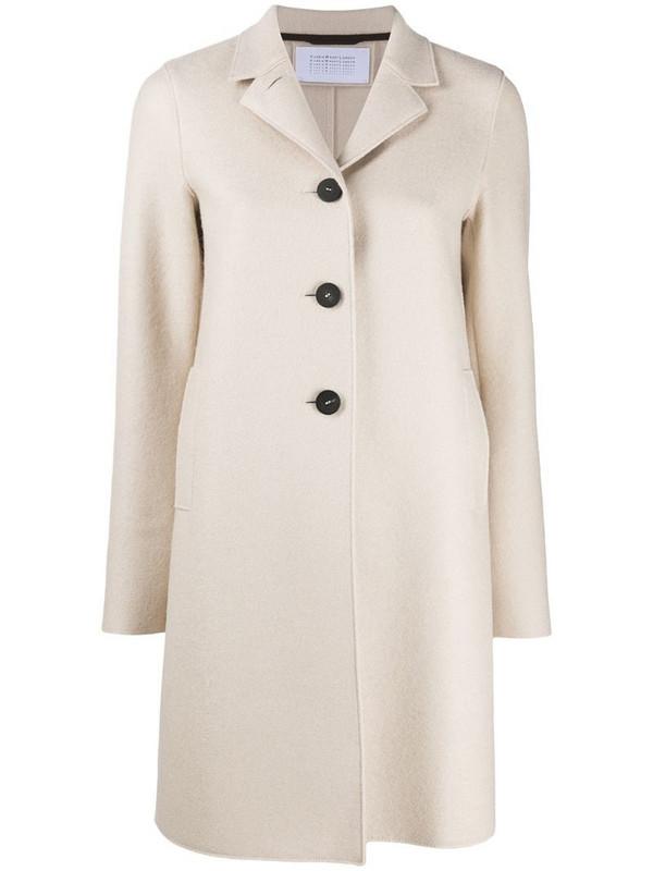 Harris Wharf London single-breasted wool coat in neutrals