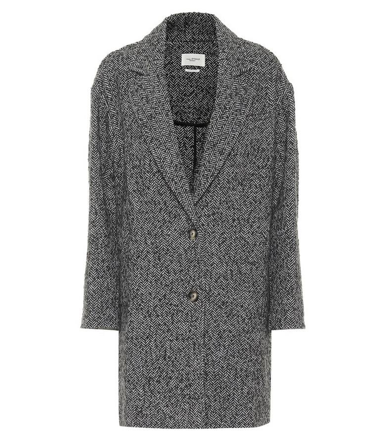 Isabel Marant, Étoile Dante herringbone wool coat in grey