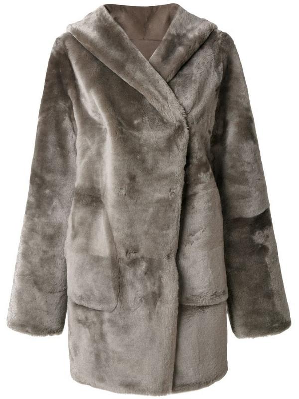 Sylvie Schimmel hooded coat in grey