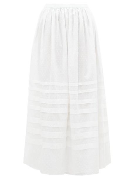 Wiggy Kit - Lavender Fields Swiss Dot Cotton Midi Skirt - Womens - White