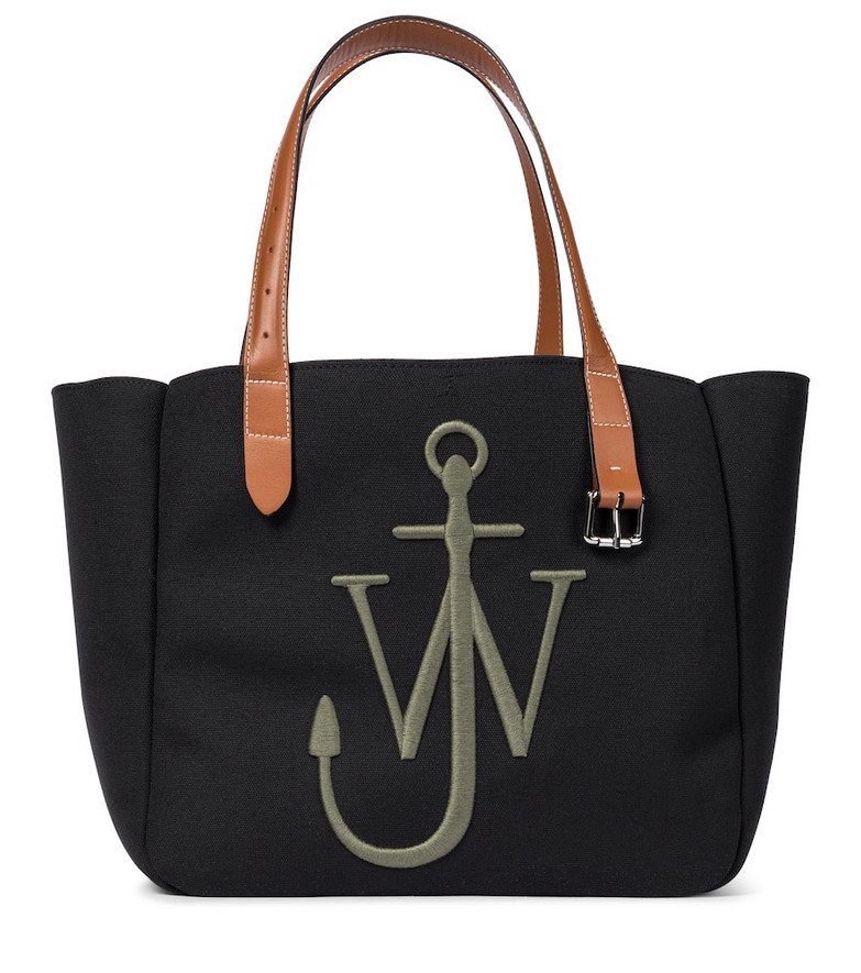 JW Anderson Belt recycled canvas tote in black