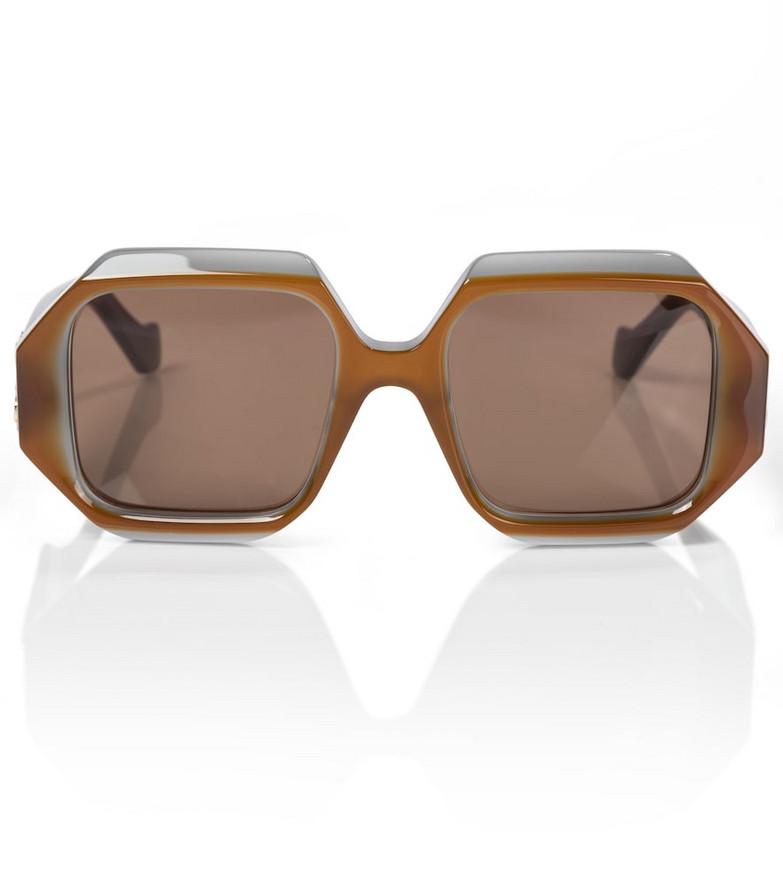 Loewe Anagram hexagonal sunglasses in brown