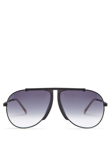 Celine Eyewear - Aviator Frame Sunglasses - Womens - Black