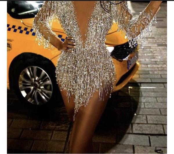 dress embellished silver sparkle diamonds