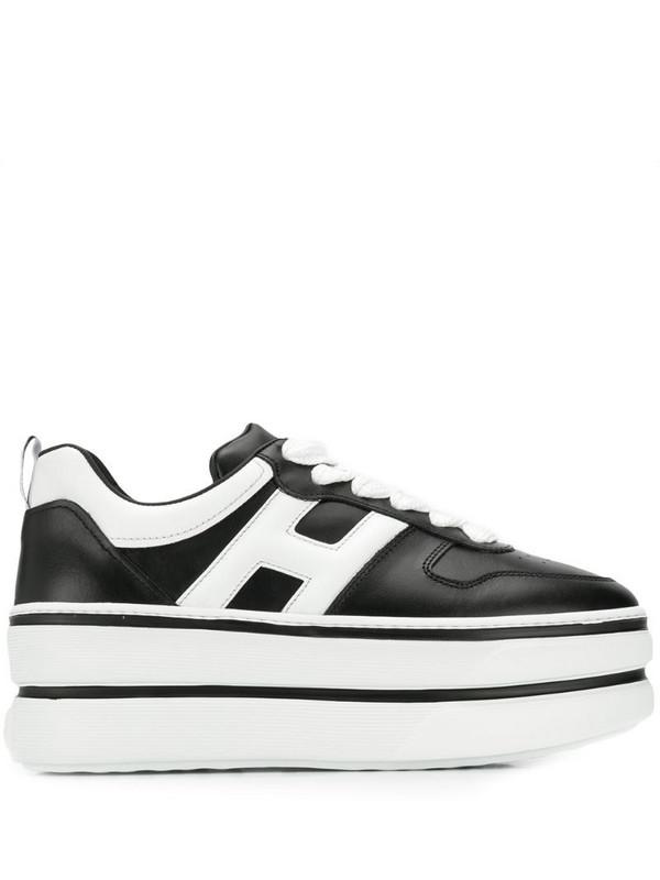 Hogan flatform sneakers in black