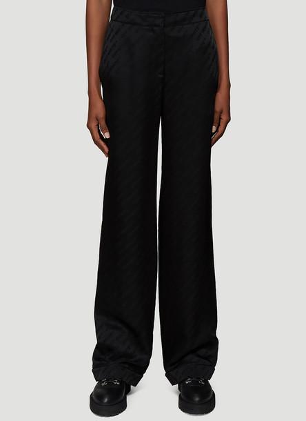 Off-White Logo Jacquard Pyjama Pants in Black size IT - 42