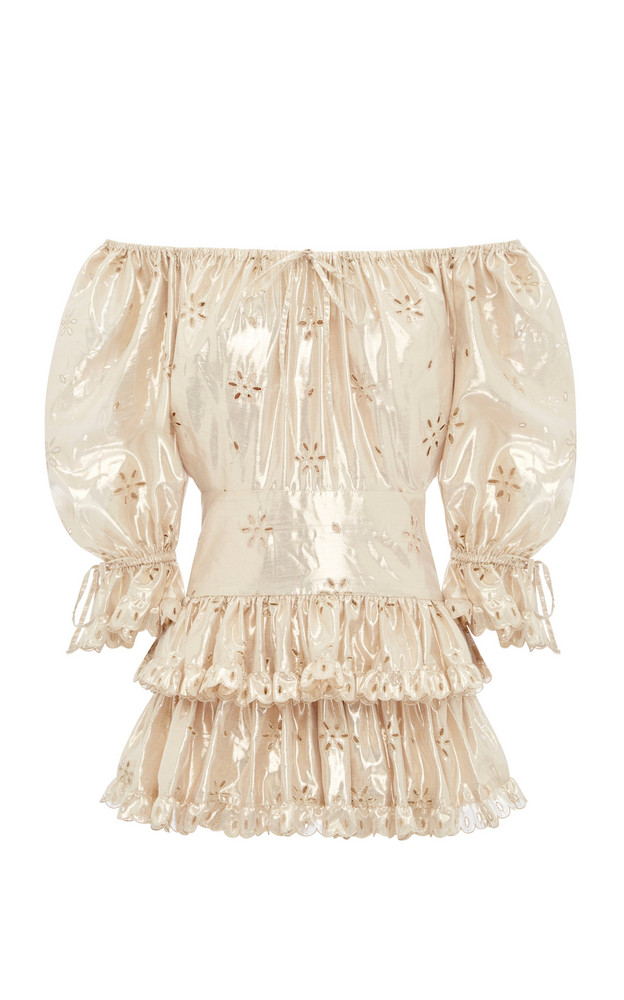 Alice McCall Electric Galaxy Playsuit in gold