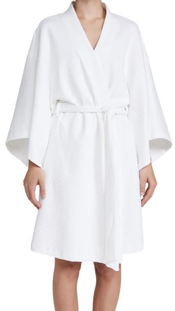 Eberjey Zen Short Spa Robe in white