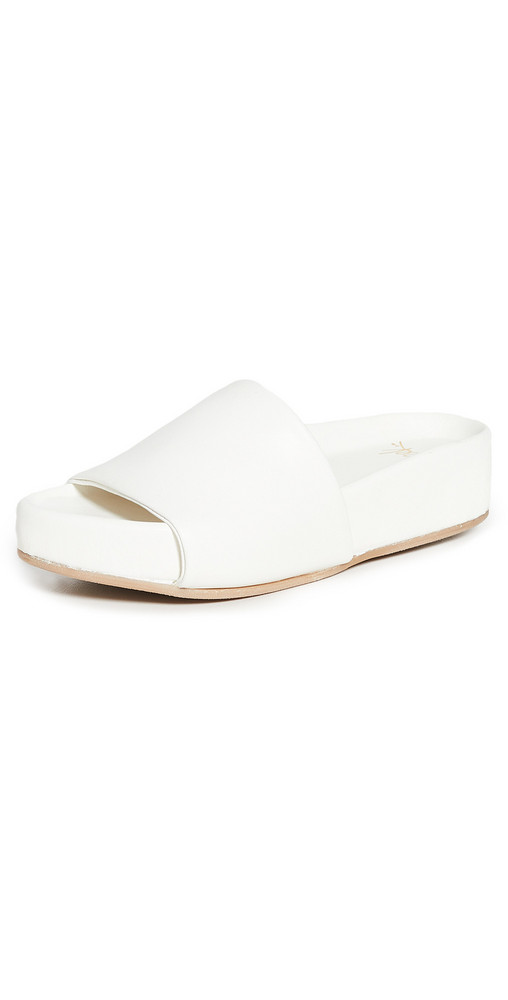 beek Pelican Sandals in white