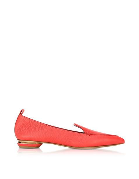 Nicholas Kirkwood Beya Poppy Red Leather Loafer