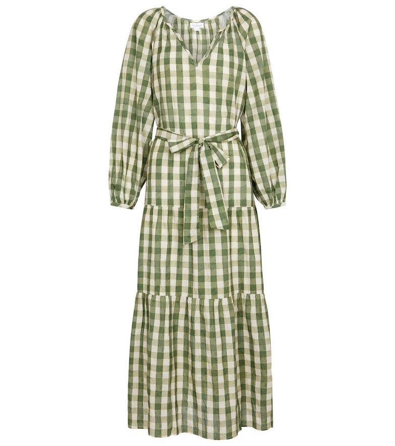 Velvet Trish cotton long-sleeved dress in green