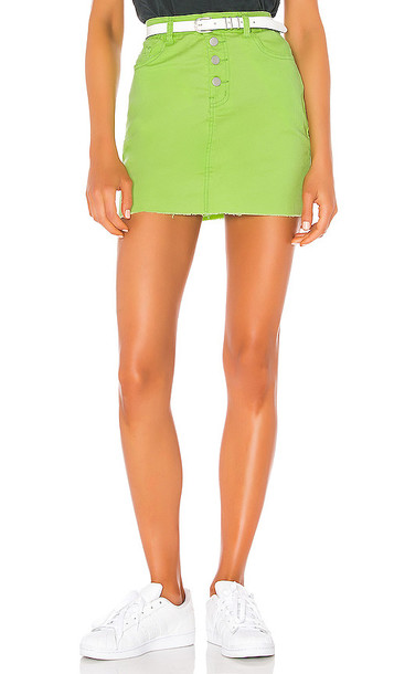 superdown Alix Distressed Denim Skirt