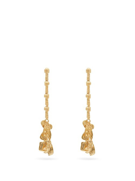 Givenchy - Textured Drop Earrings - Womens - Gold